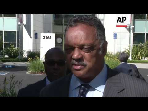 Rev. Jesse Jackson brought diversity advocates to an eBay shareholder meeting Tuesday. He is pushing