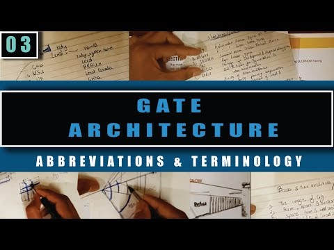 Architecture Gate study material -3 (Abbreviations & Terminology)