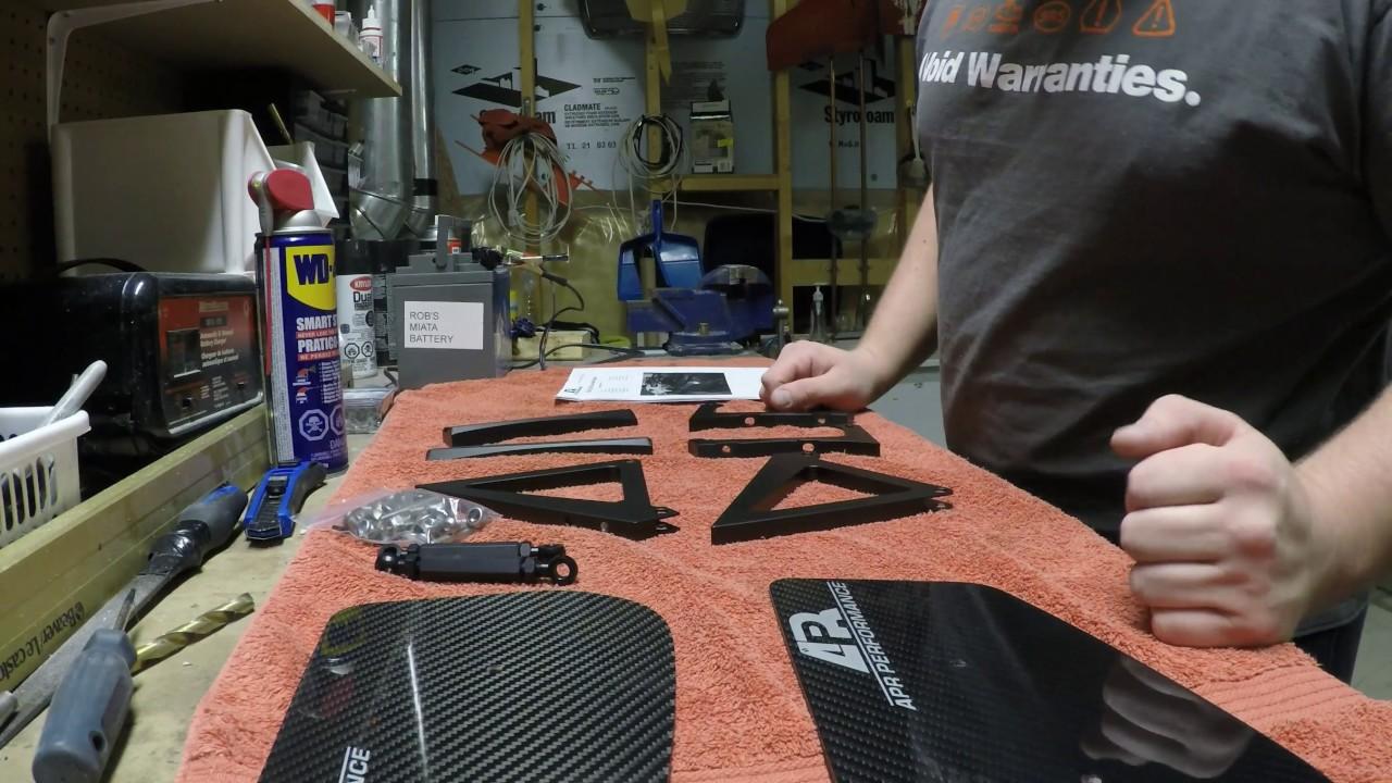 "APR Performance 2.5/"" Riser Extension Bracket for *Universal GTC-200 Wing Spoiler"