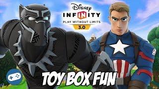 Месники: нескінченність війни Дісней нескінченність Toy Box веселощів геймплей Частина 6 Чорна Пантера і Капітан Америка