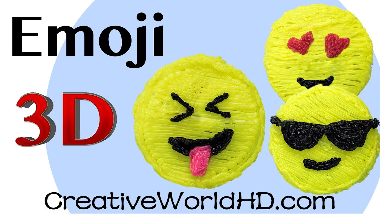 How To Make Emoji Face 3D Printing Pen Creations Scribbler DIY