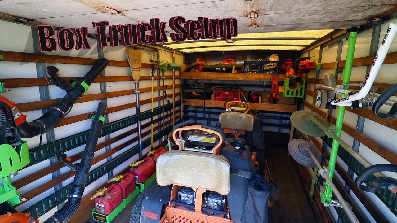 Isuzu Npr Lawn Care Box Truck Setup Youtube