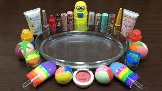 MIXING MAKEUP AND CLAY INTO CLEAR SLIME ! RELAXING SATISFYING SLIME