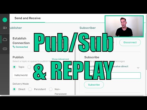 Try Me! A demo of the test pub/sub app built in Solace. And REPLAY!