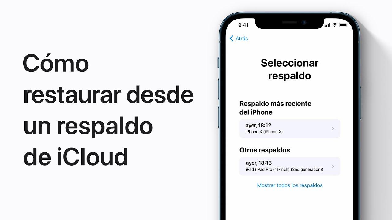 Cómo restaurar un iPhone, iPad o iPodtouch desde un respaldo de iCloud – Soporte técnico de Apple