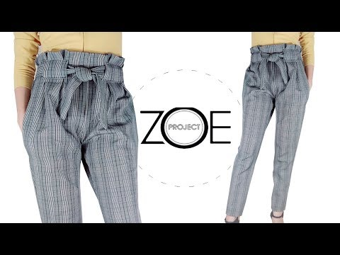 DIY sewing paper bag trouser | FREE pattern ep21 Zoe diy