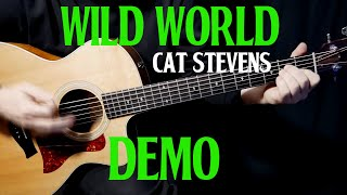 """how to play """"Wild World"""" on guitar by Cat Stevens 