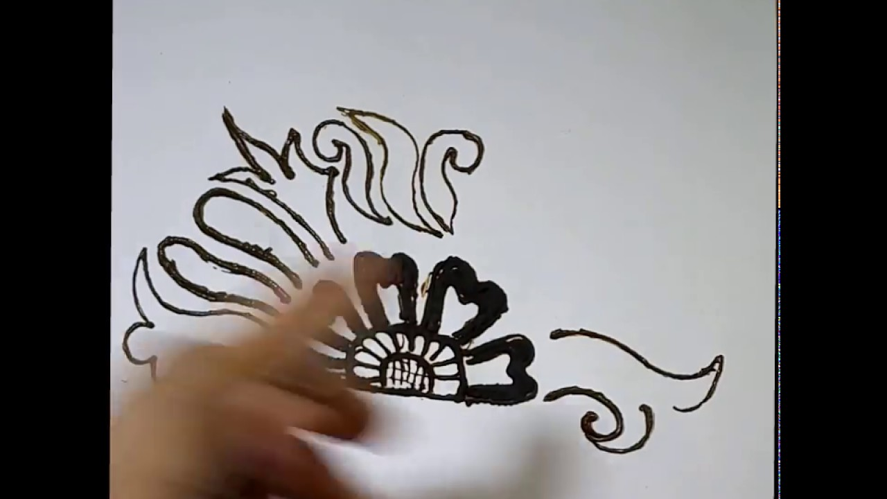 How to draw mehandi in hindi - class 10 - YouTube