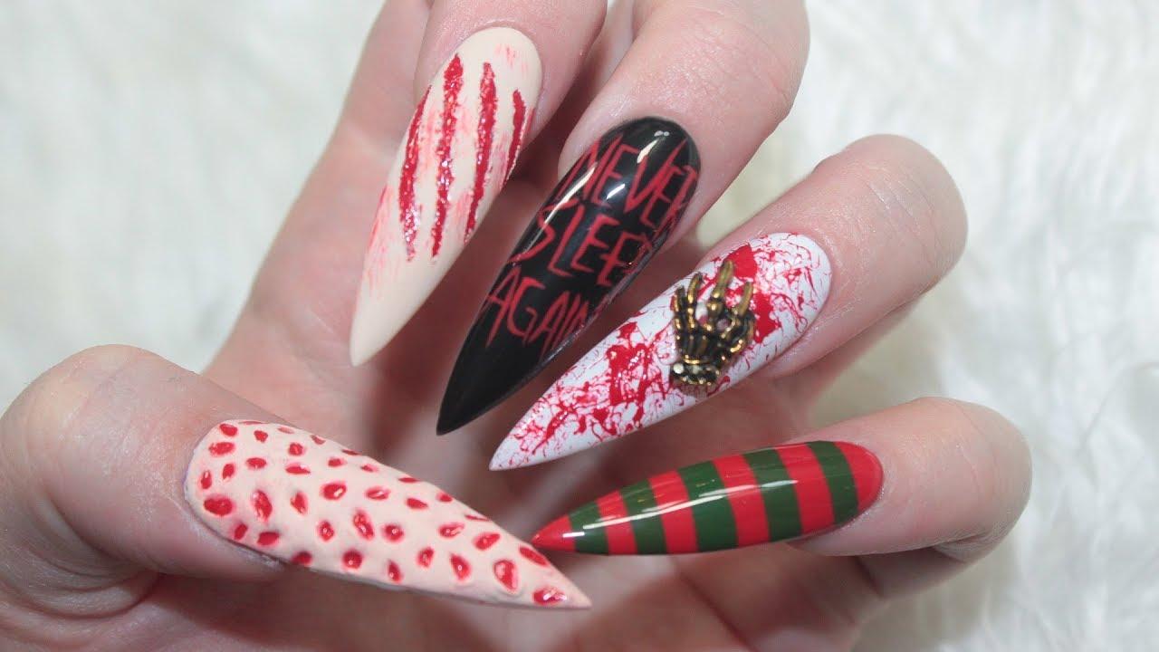 3d Freddy Krueger Nails Youtube