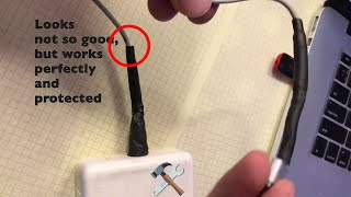 How to Repair Frayed Apple Macbook Cable Cord without damaging Power Brick Easy Cheap DIY
