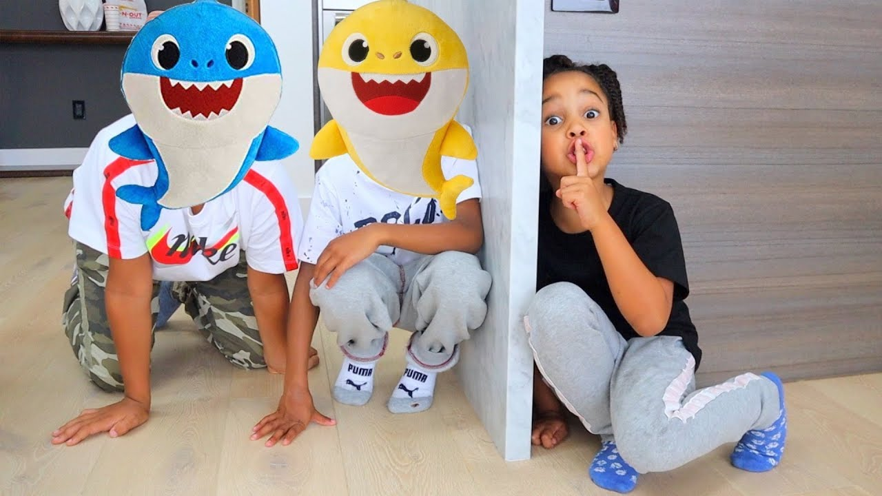 Baby Shark Hide & Seek | FamousTubeKIDS