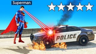 Playing As SUPER MAN In GTA 5! (Superhero Mod)