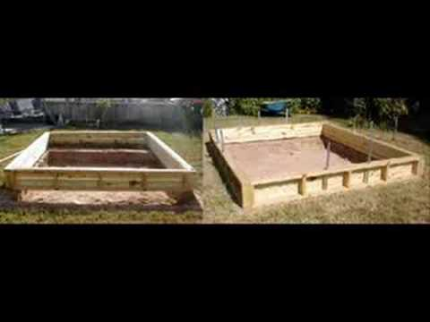 Building a backyard pond youtube for Wooden koi pond construction