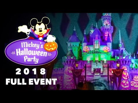 MICKEY'S HALLOWEEN PARTY 2018 AT DISNEYLAND! - FULL EVENT WALKTHROUGH Mp3