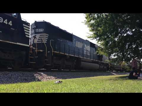 Freight train passing at Spring City, TN
