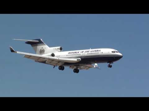 Gambia Government Boeing 727-100 C5-GOG Landing Malaga LEMG