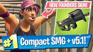 Compact SMG (P90) Gameplay, Founders Pack + 5.1 Patch Notes - Fortnite Battle Royale