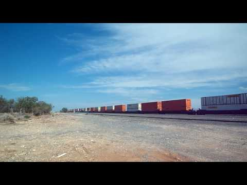 freight train running in Yeso, NM - 1/8/09