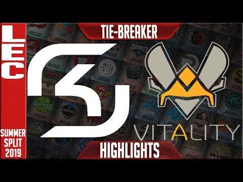SK vs VIT Highlights | LEC Summer 2019 TIEBREAKER | SK Gaming vs Vitality