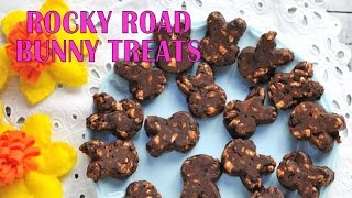 Easter Bunny Rocky Road Cookie Treats, Haniela's