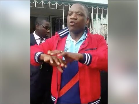 Tafadzwa Musekiwa and Sikhala address MDC supporters who came to welcome the former MP from the UK