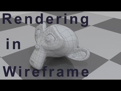 Blender Tutorial - How to Render Wireframe in Blender