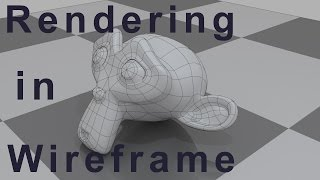 Blender Tutorial - How to Render Wireframe in Blender