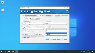 19  Auto Tracking Camera   Tracking Config Tool