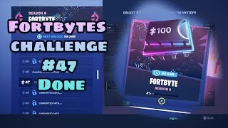Secrets Fortnite challenge 47 Collect FORTBYTES to Decrypt The mystery found #47