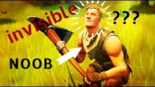 HOW TO GET Invisible in Fortnite!! ( Fortnite Mobile ) //LeviTheNoob//
