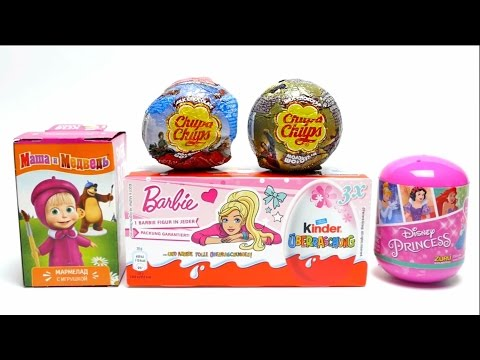 Thumbnail: Chupa Chups Balls, Barbie Surprise Eggs, Masha and the Bear, Disney Princess