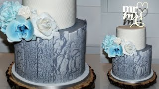 Cake decorating tutorials | RUSTIC wedding cake wood effect | Sugarella Sweets
