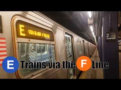 MTA New York City Subway: (E) Trains via the IND 6th Avenue/63rd Street (F) Line Action