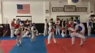 MST training at Kicks Taekwondo in Wayne Michigan Sparring #2