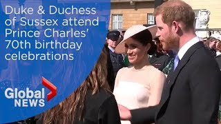 Prince Harry, Meghan Markle make first public appearance since royal wedding