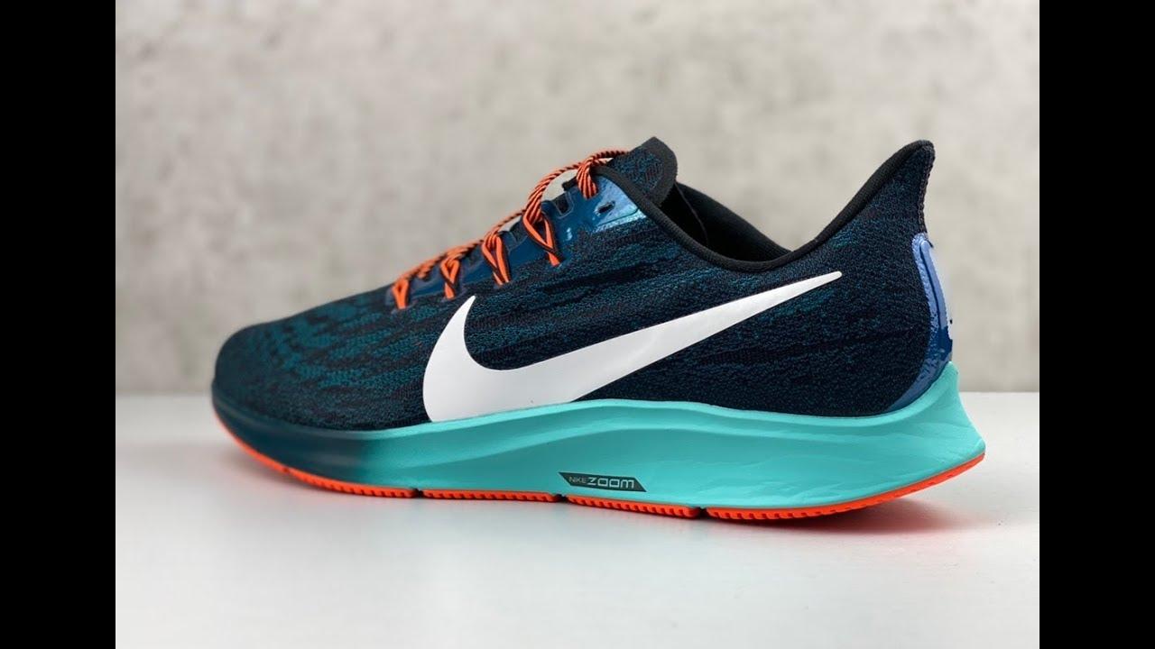 luego Celebridad Trastorno  Nike Air Zoom Pegasus 36 Hakone 'turquoise/mtl summit wht' | UNBOXING & ON  FEET | running shoes - YouTube