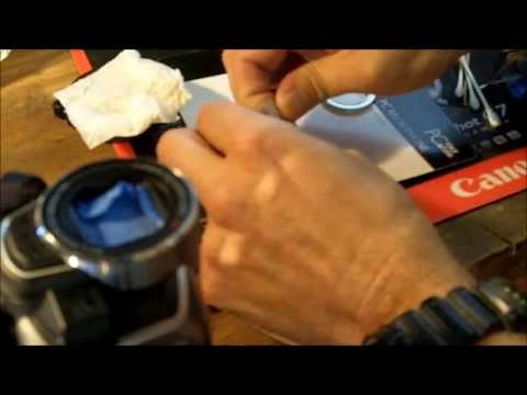 How to add a filter, lens hood or wide angle lens to a Canon Vixia HF-R10 or HF-R11 camcorder.
