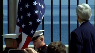 بالفيديو.. رفع العلم الأمريكي في كوبا لأول مرة منذ 54 عاما