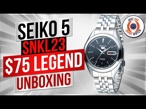 """The $75 Watch That Looks Like A Million Bucks?"" Seiko SNKL23 Unboxing"
