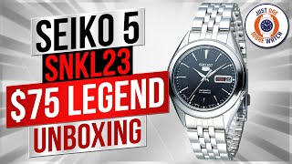 """""""The $75 Watch That Looks Like A Million Bucks?"""" Seiko SNKL23 Unboxing"""