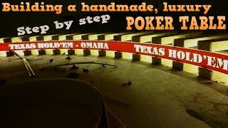 How To Build A Poker Table With Lights - Handmade, Luxury Poker Table - Step By Step Video & Photos!