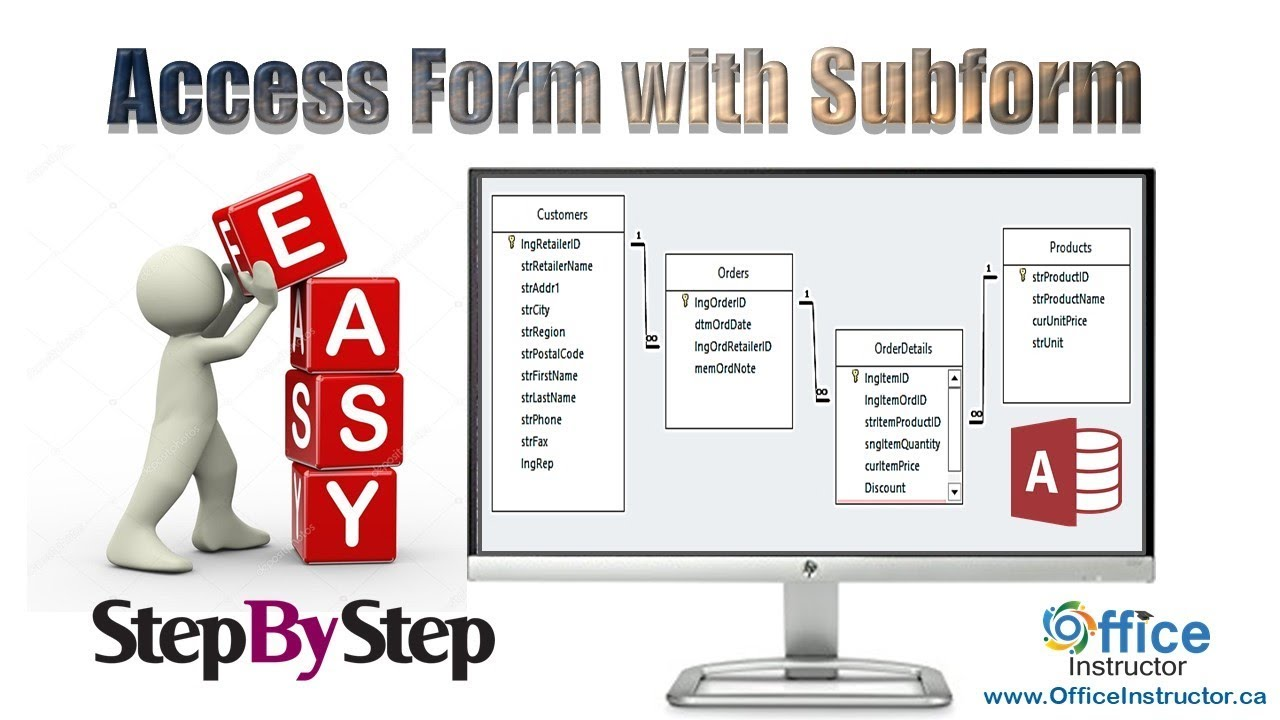 Download Access  Form With a Subform and Calculated Fields