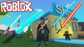 ROBLOX-epic Battle of lightsaber of the Jedi Knights of Star Wars (Roblox Saber Simulator)