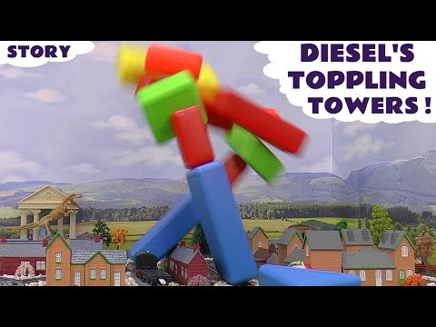 Thomas and Friends Toppling Towers Surprise Eggs - Cars Batman Angry Birds Kinder Mickey Mouse