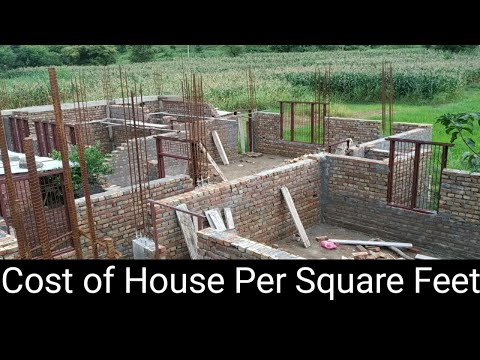 Cost of House Construction per square foot 2019 | Estimation