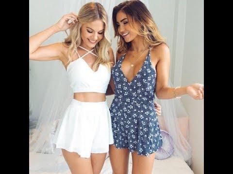 Latest new hot skirt blouse dresses designs 2017 girls tops style fashion thumbnail