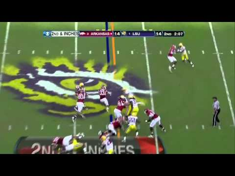 Tyrann Mathieu vs Arkansas 2011