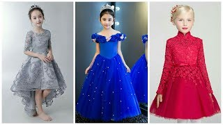 Beautiful & Stylish Look Small Girls Floral Gown Fashion Latest Idea's
