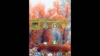 Xperia M 4.3 Walkman con widget glass