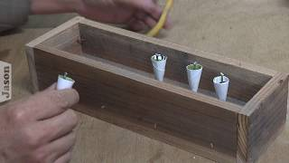 Making lead fishing weights in paper moulds